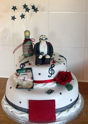 """Pavoroti"" 40th birthday cake"